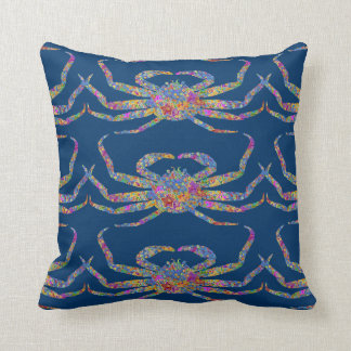 Opilio Crab in Blue With Stars Throw Pillow