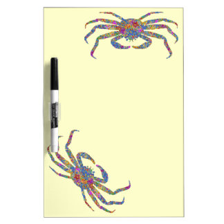Opilio Crab in Blue With Stars Dry Erase White Board