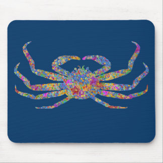 Opilio Crab in Blue With Stars Mouse Pads