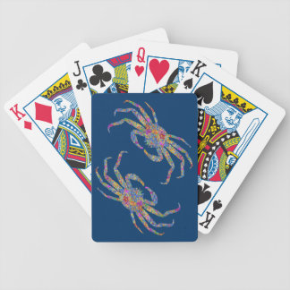 Opilio Crab in Blue With Stars Poker Cards