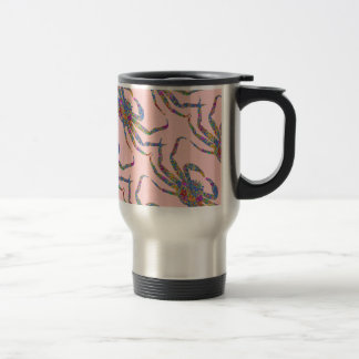 Opilio Crab in Blue With Stars Stainless Steel Travel Mug