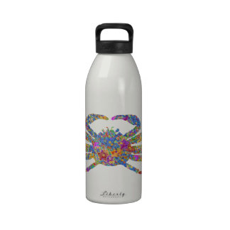 Opilio Crab in Blue With Stars Reusable Water Bottles