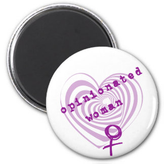 Opinionated Woman 6 Cm Round Magnet