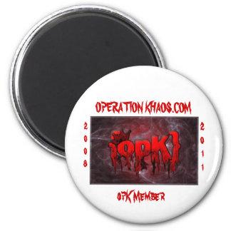 opk banner, OPERATION KHAOS.COM, opK Member, 20... 6 Cm Round Magnet