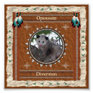 Opossum  -Diversion- Poster Print