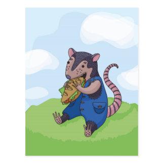 Opossum Meal Postcard