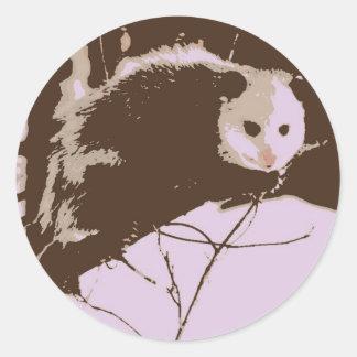 Opossum Pop Art Sticker
