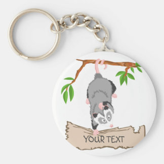 Opossum with sign key ring