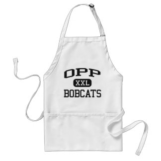 Opp - Bobcats - Opp High School - Opp Alabama Adult Apron