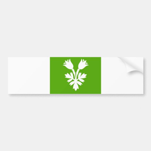 Oppland flag Norway region county Bumper Stickers