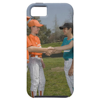 Opponents shaking hands iPhone 5 cases