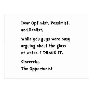 Opportunist Postcard