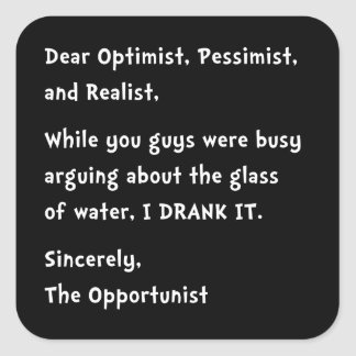 Opportunist Square Sticker