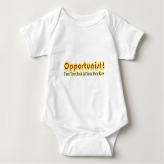 Opportunist Turn Your Back At Own Risk Text Design T-shirts