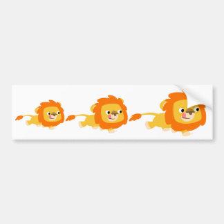 Opportunistic Cartoon Lion bumper sticker