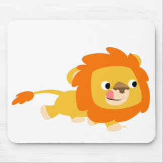 Opportunistic Cartoon Lion mousepad