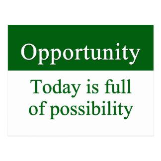 Opportunities fill life postcard