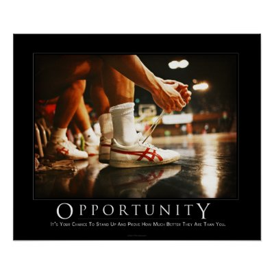 Motivational poster on opportunity demotivational poster zazzle co uk