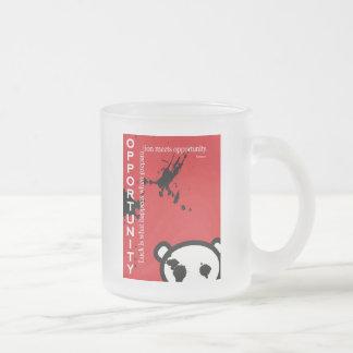 Opportunity ~ Seneca Frosted Glass Mug