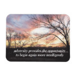 opportunity to begin again inspirational flexible magnet