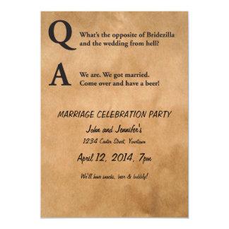 Opposite of Bridezilla Marriage Party 13 Cm X 18 Cm Invitation Card