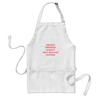 opposites attract apron