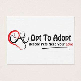 Opt To Adopt Business Card