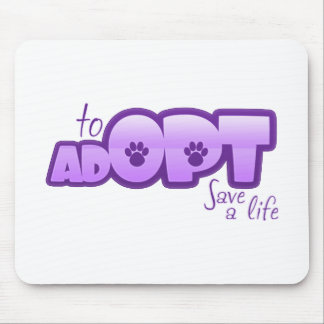 Opt To Adopt Mouse Pad