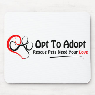 Opt To Adopt Mousepad