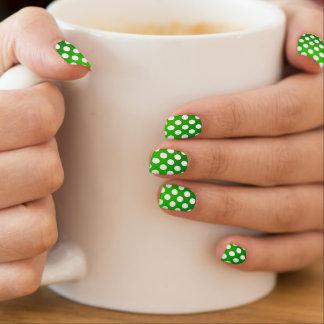 Optic Polka Dots Gradient Green St.Patrick's Day Minx Nail Art