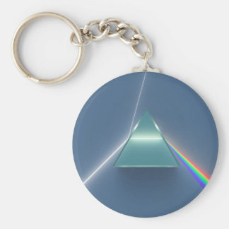 Optic Prism Refracting and Reflecting Light Key Ring