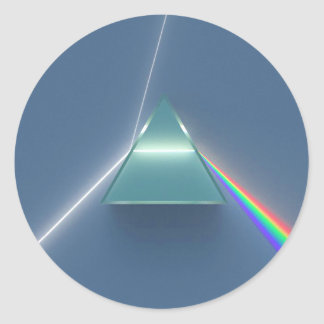 Optic Prism Refracting and Reflecting Light Round Sticker
