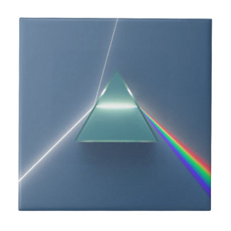 Optic Prism Refracting and Reflecting Light Tile