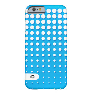OPTICAL | blue and white pattern with initials Barely There iPhone 6 Case