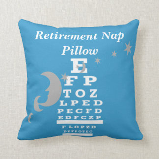 Optical Chart Retirement Pillow