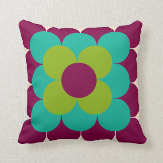 Optical flower pillow throw cushions