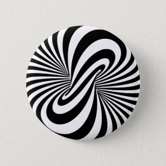 Optical Illusion 3D Spiral 6 Cm Round Badge
