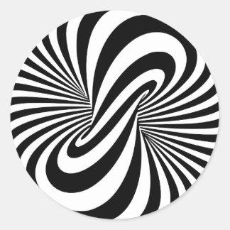 Optical Illusion 3D Spiral Classic Round Sticker