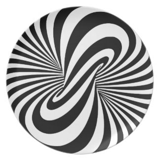 Optical Illusion 3D Spiral Plate