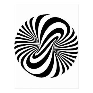 Optical Illusion 3D Spiral Postcard