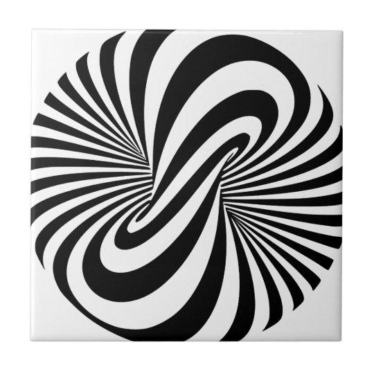 Optical Illusion 3D Spiral Tile