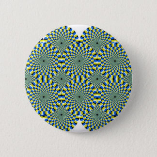 optical illusion 6 cm round badge