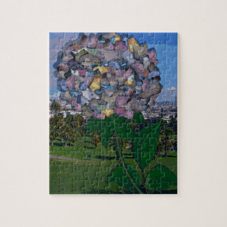 Optical Illusion:  A Flower Grows in Dolores Park Jigsaw Puzzle