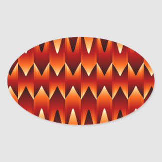 Optical illusion abstract background oval sticker