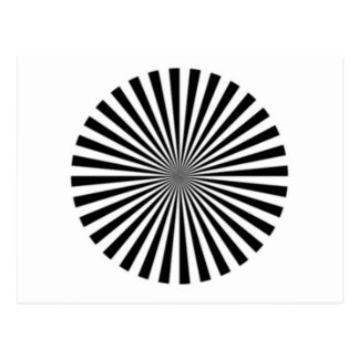 Optical Illusion Allows One To See Ones Brainwaves Postcard