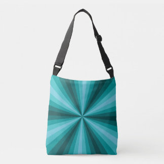 Optical Illusion Aqua All-Over-Print Bag