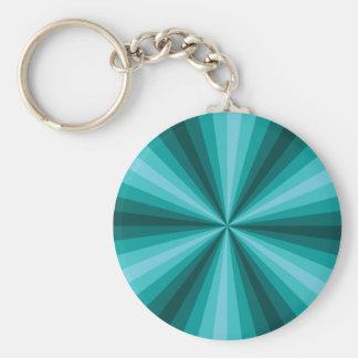 Optical Illusion Aqua Keychain