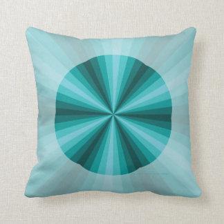 Optical Illusion Aqua Pillow