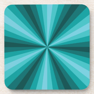Optical Illusion Aqua Square Coaster