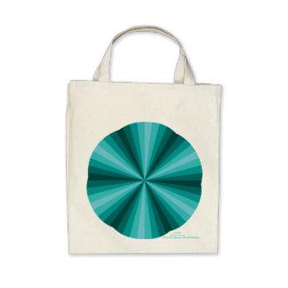 Optical Illusion Aqua Tote Bag